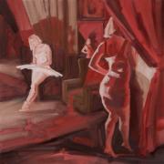 Self-Reflection-2019-oil-on-linen-40cm-x-40cm