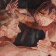 Intimacy, 2018, oil on linen, 40x80cm