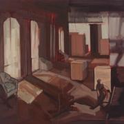 Interiority, 2016, oil on canvas, 1m x 1.1m