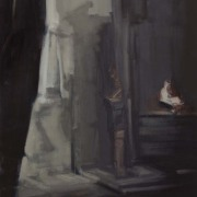 Suspended Belief, 2012, oil on canvas, 1.2m x 1m