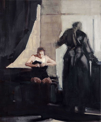 Unspoken Moment , 2010, oil on canvas, 1.2m x 1m